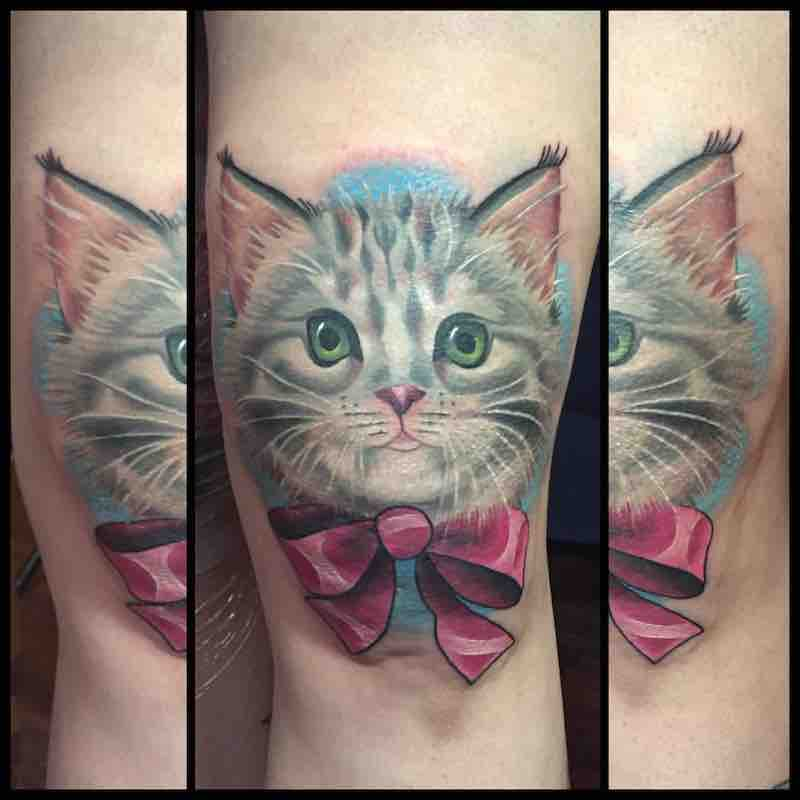 Cat Tattoo by Michelle Maddison