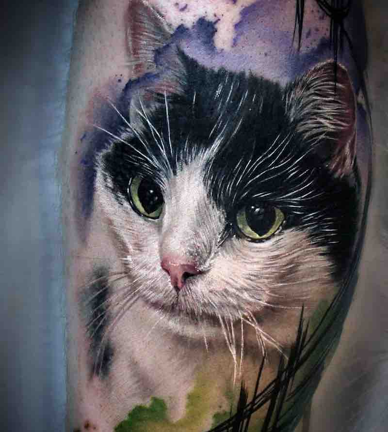 Cat Tattoo by Sandra Daukshta