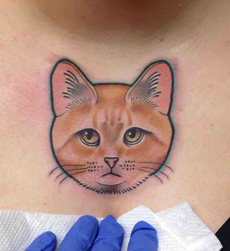Cat Tattoo by Tara Timoon