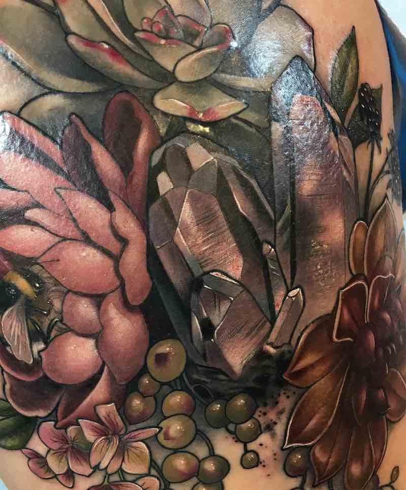 Crystal Tattoo by Makkala Rose