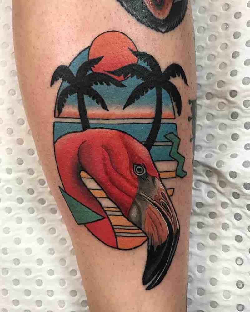Flamingo Tattoo 2 by Drew Shallis