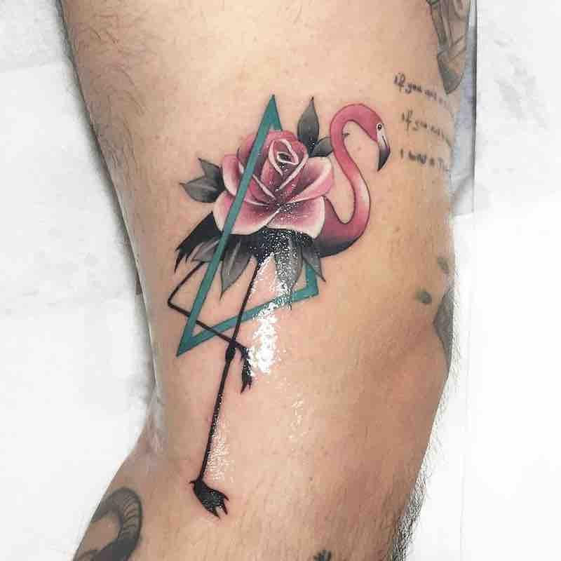 Flamingo Tattoo by Polyc