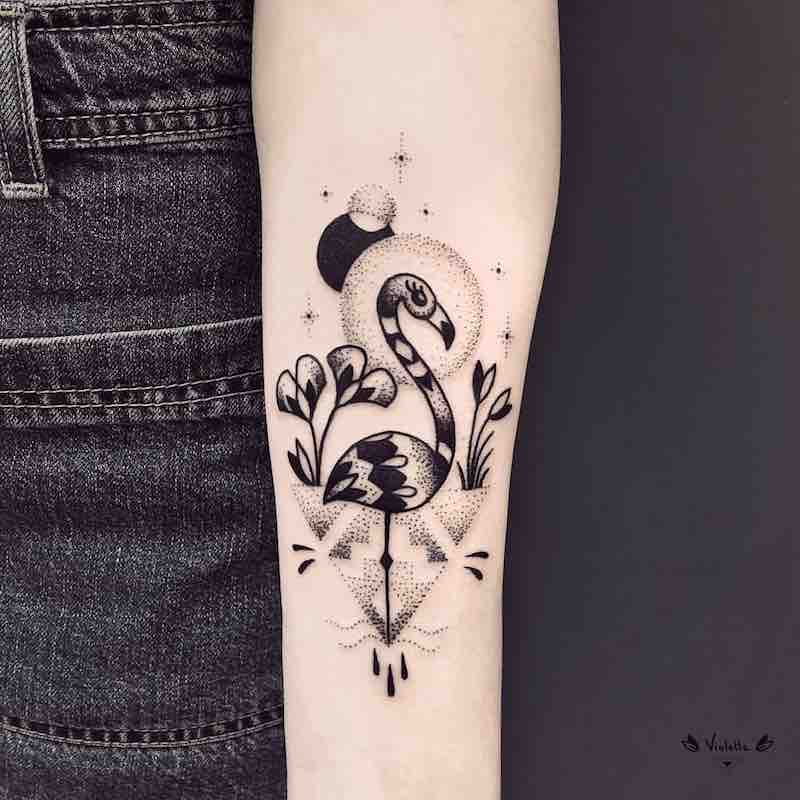 Flamingo Tattoo by Violette Chabanon