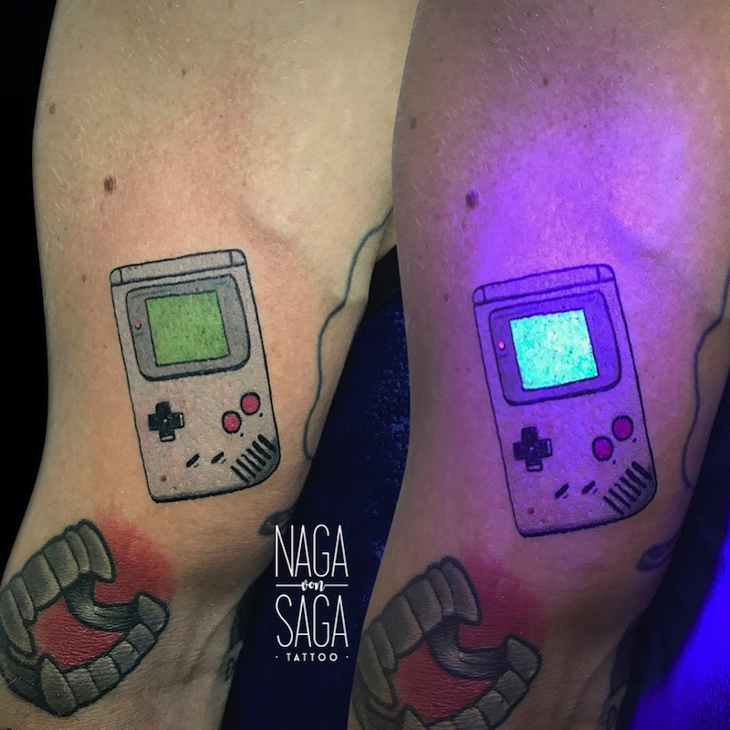 GameBoy UV Tattoo by Nαgα Sαgα
