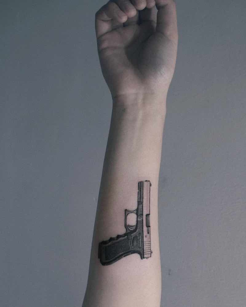Gun Tattoo 2 by Zipin Black