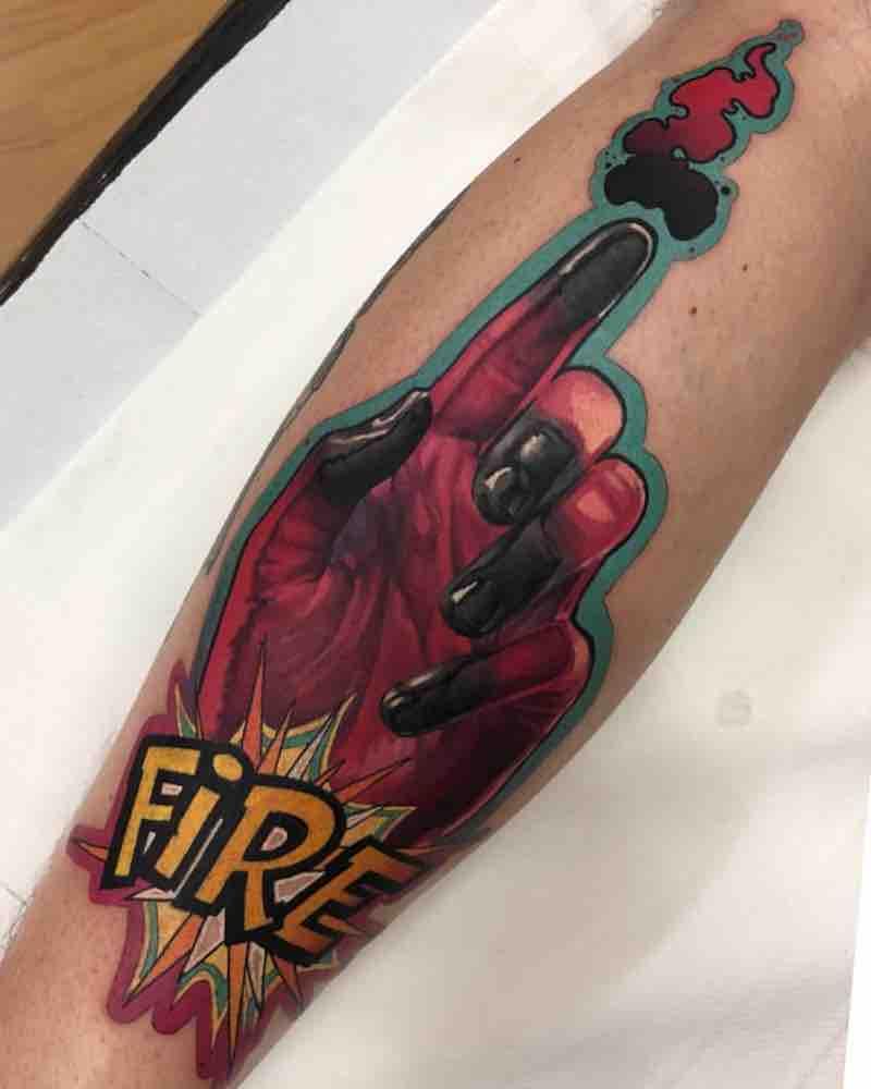 Hands Tattoo by Ivan Cubas