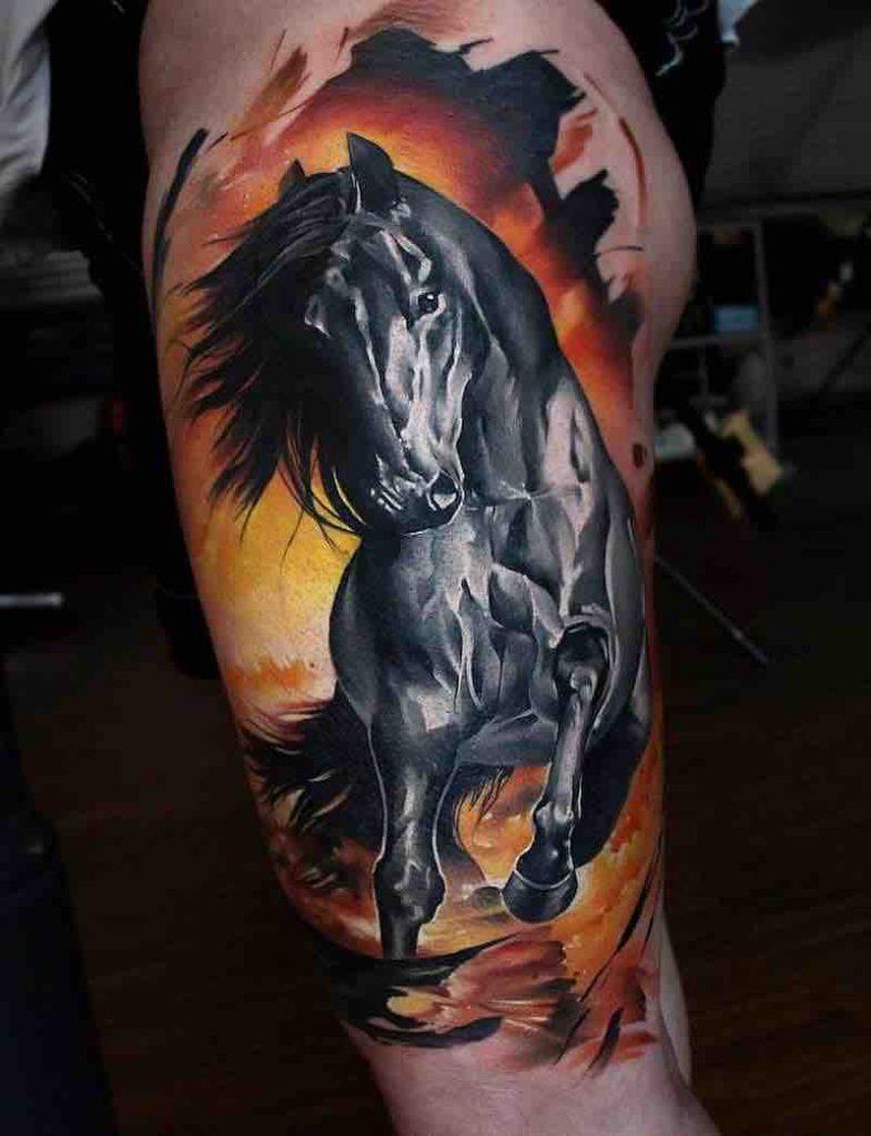 Horse Tattoo by Sandra Daukshta