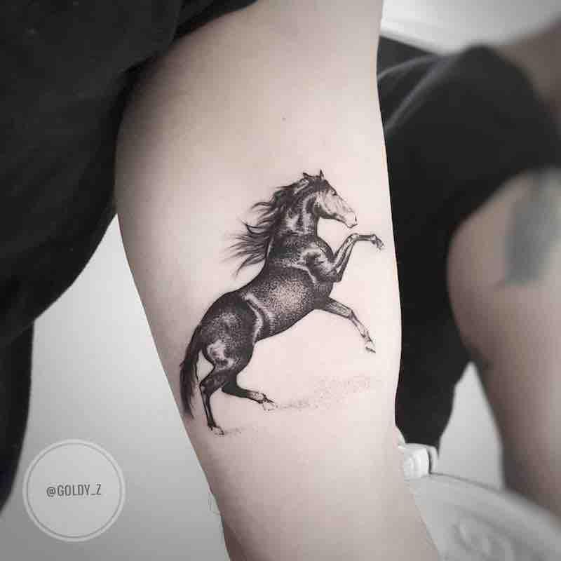 Horse Tattoo by Zlata Kolomoyskaya