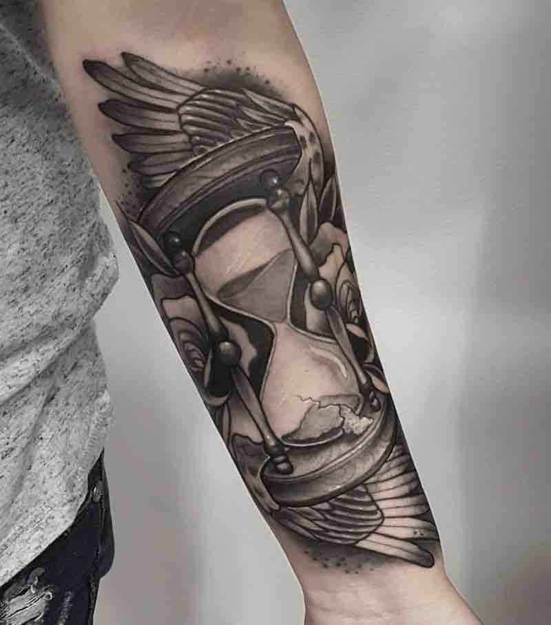 Hourglass Tattoo by Anthony Barros Castro