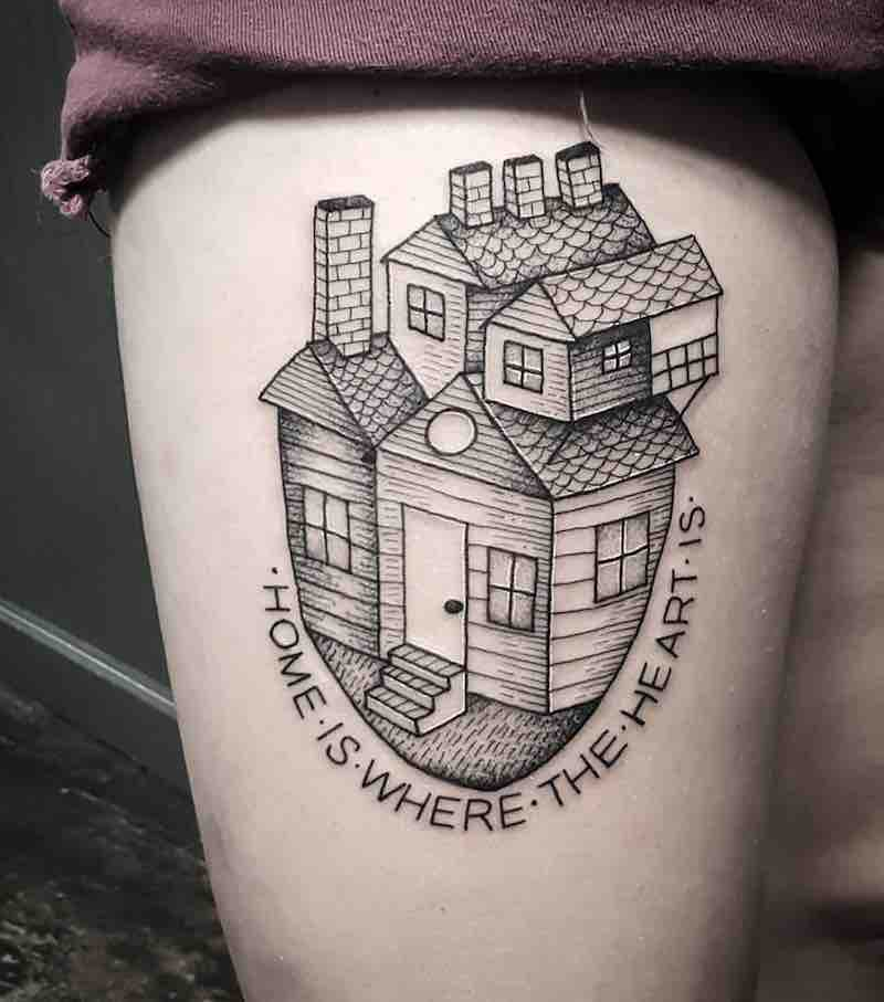 House Tattoo 2 by Cutty Bage