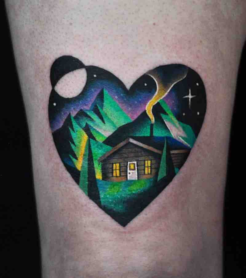 House Tattoo 2 by David Peyote