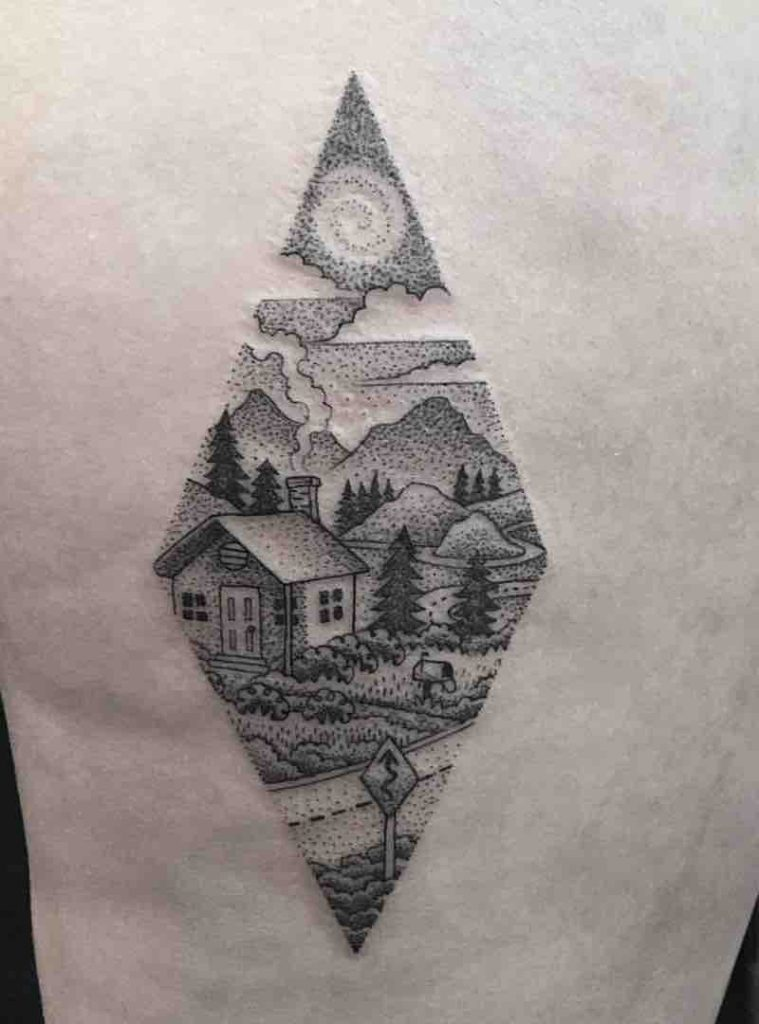 House Tattoo by Eli