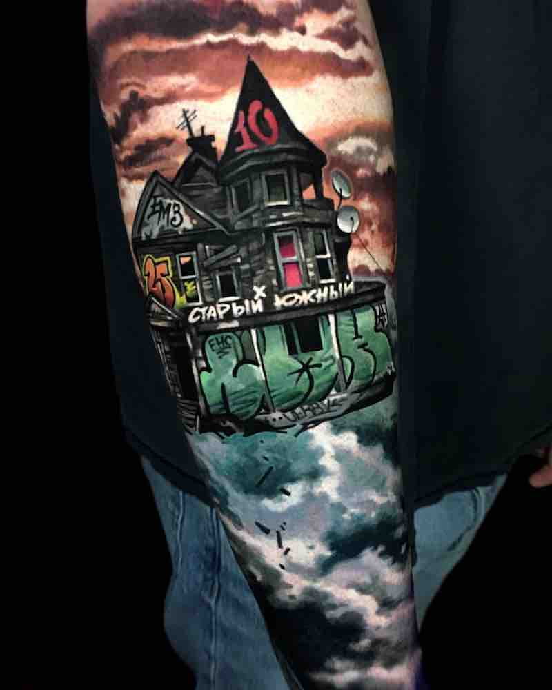House Tattoo by Mashkow