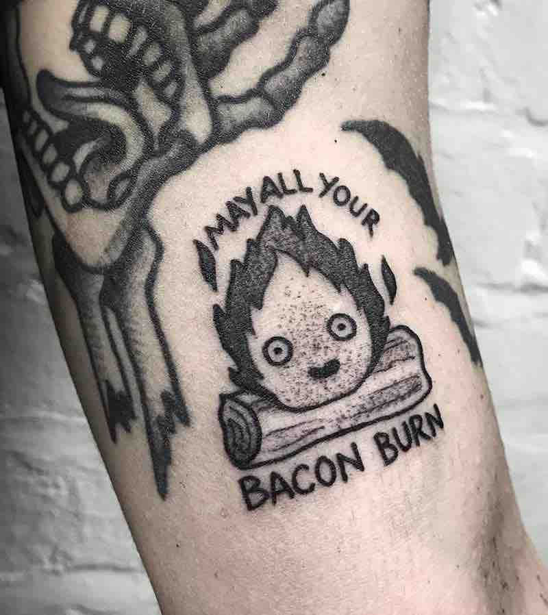 Howls Moving Castle Calcifer Tattoo 2 by Raine Knight