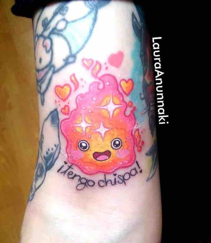 Howls Moving Castle Calcifer Tattoo by Laura Anunnaki