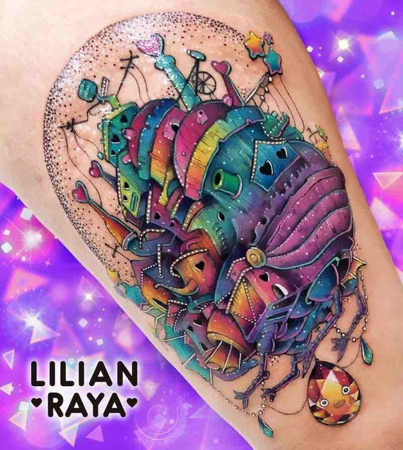 Howls Moving Castle Tattoo by Lilian Raya