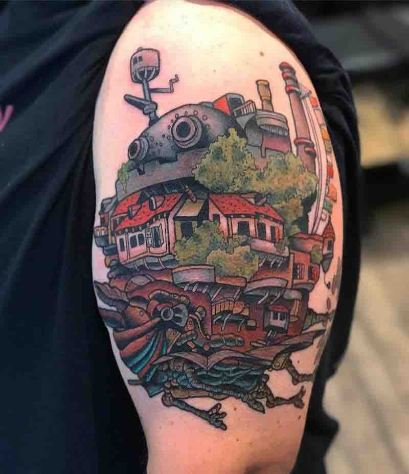 Howls Moving Castle Tattoo by Marius Klaue