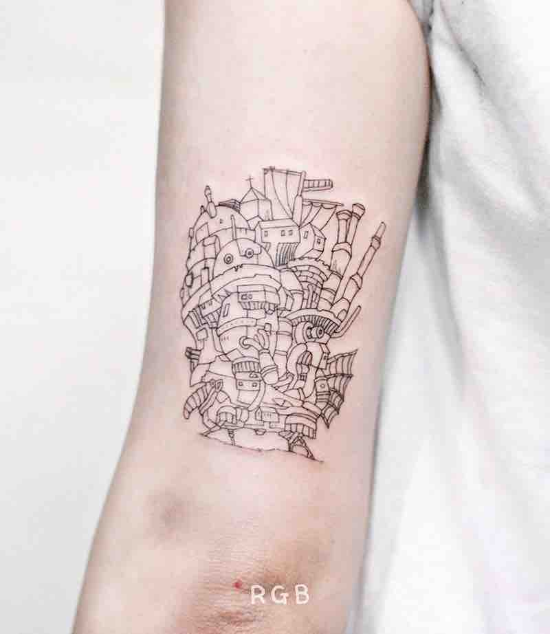 Howls Moving Castle Tattoo by RGB Tattoo