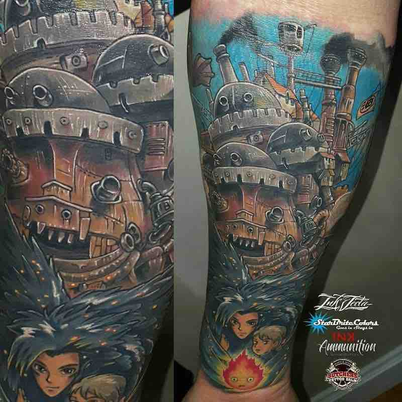 Howls Moving Castle Tattoo by Troy Slack