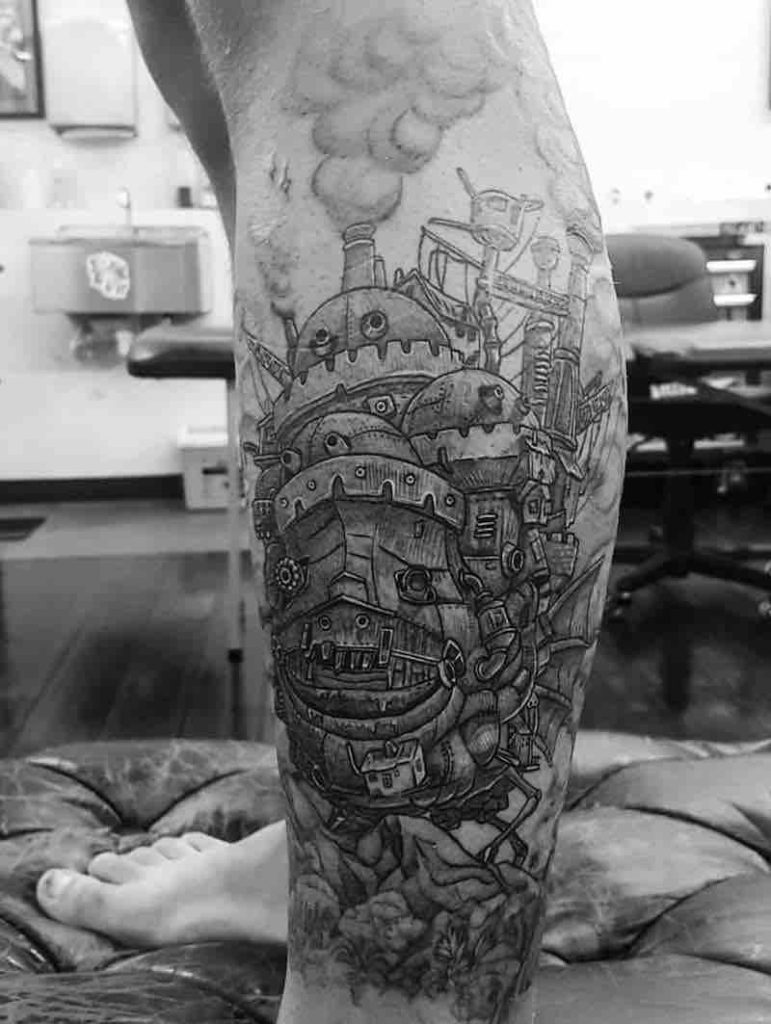 Howls moving Castle Tattoo by Alexandyr Valentine