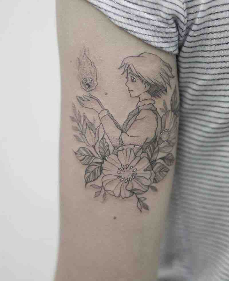 Howls moving Castle Tattoo by Phoebe Hunter