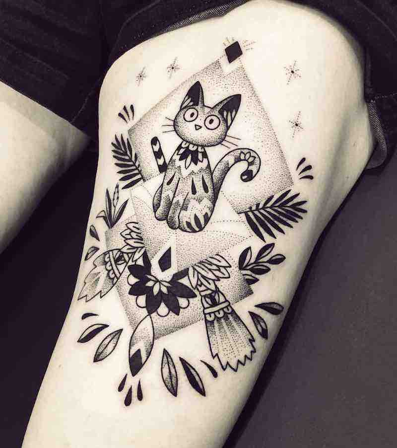 Kikis Delivery Service Tattoo 2 by Violette Chabanon