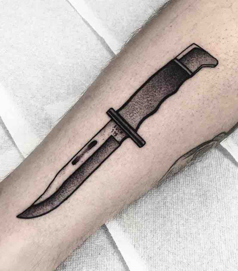 Knife Tattoo by SLEE