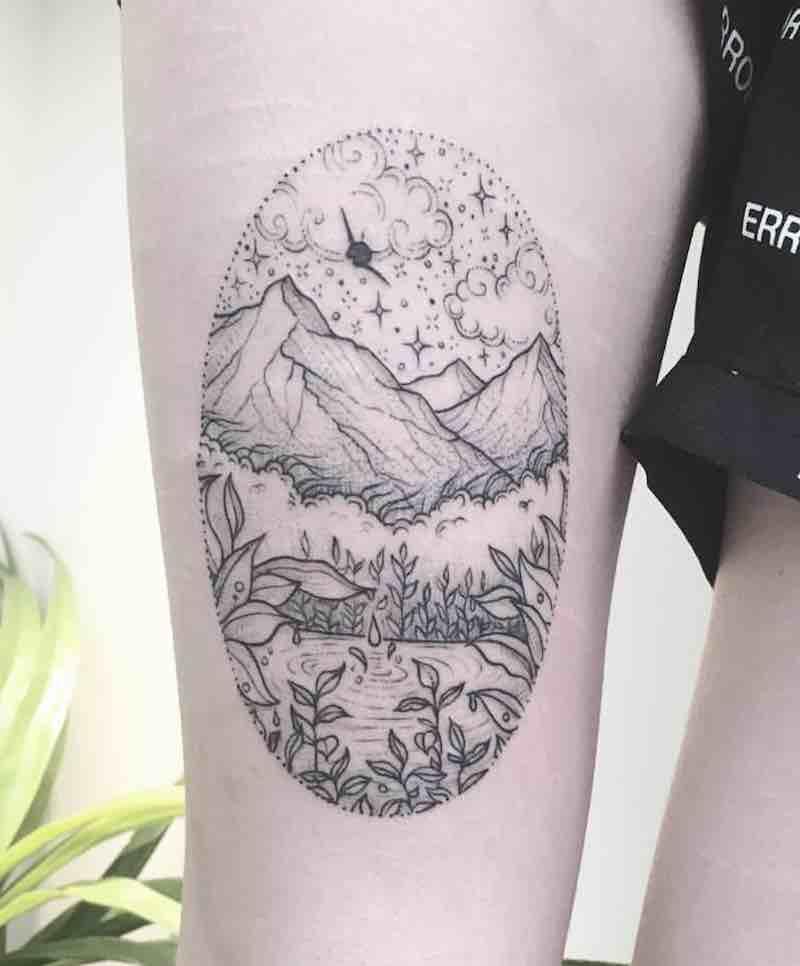 Landscape Tattoo 2 by Peta Heffernan