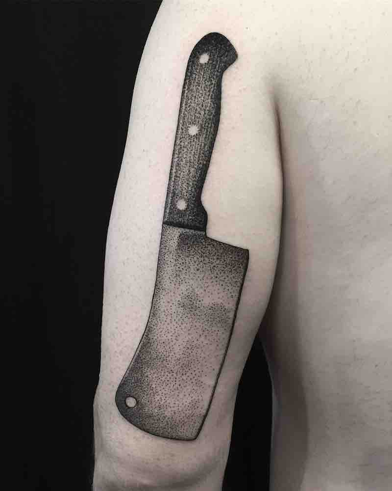 Meat Cleaver Tattoo by Eli