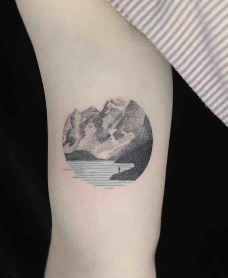 Mountains Tattoo 2 by Aga Kura