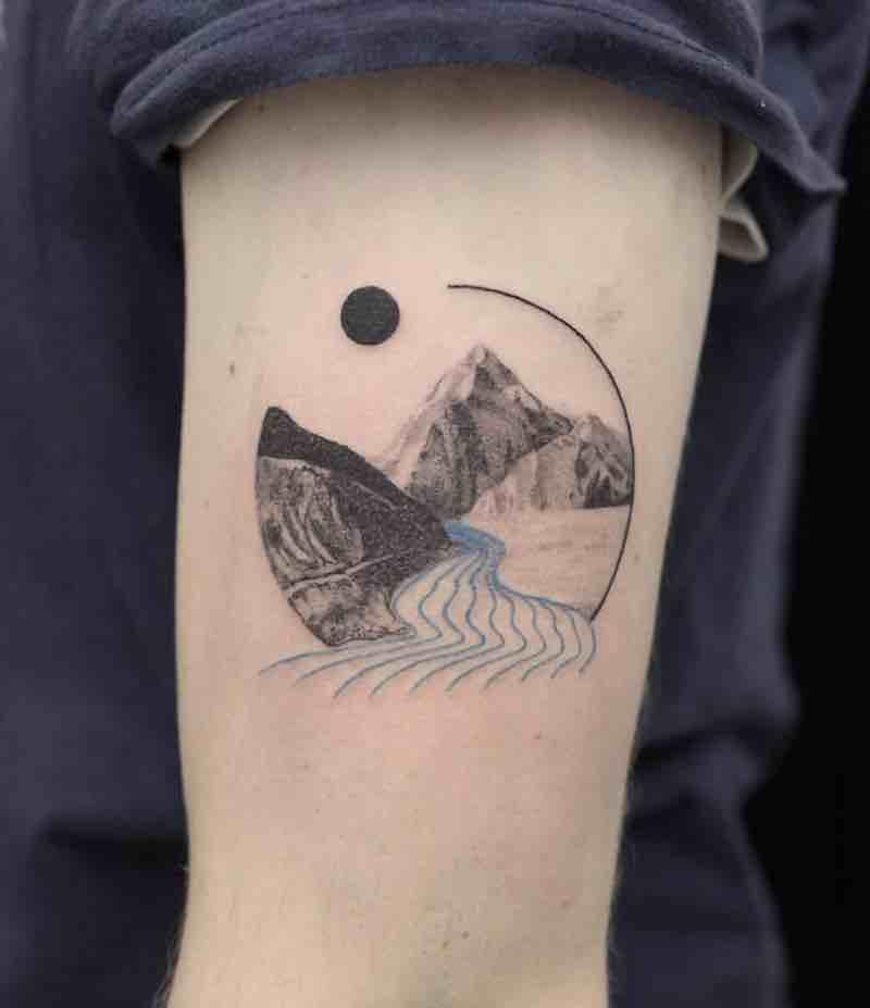 Mountains Tattoo by Aga Kura