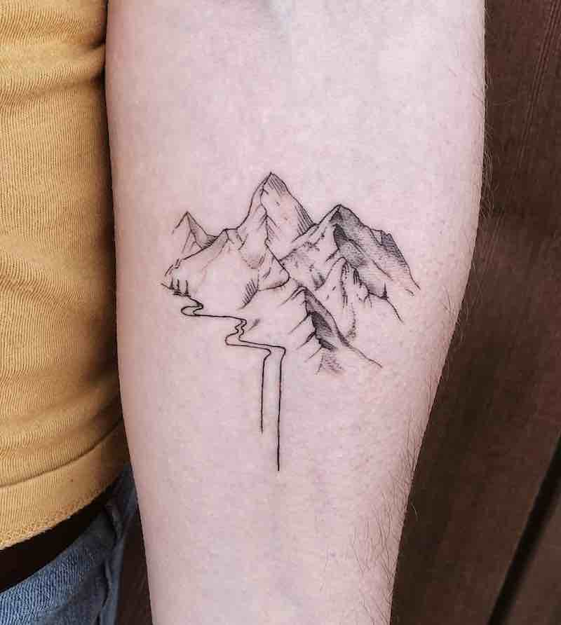 Mountains Tattoo by Parker