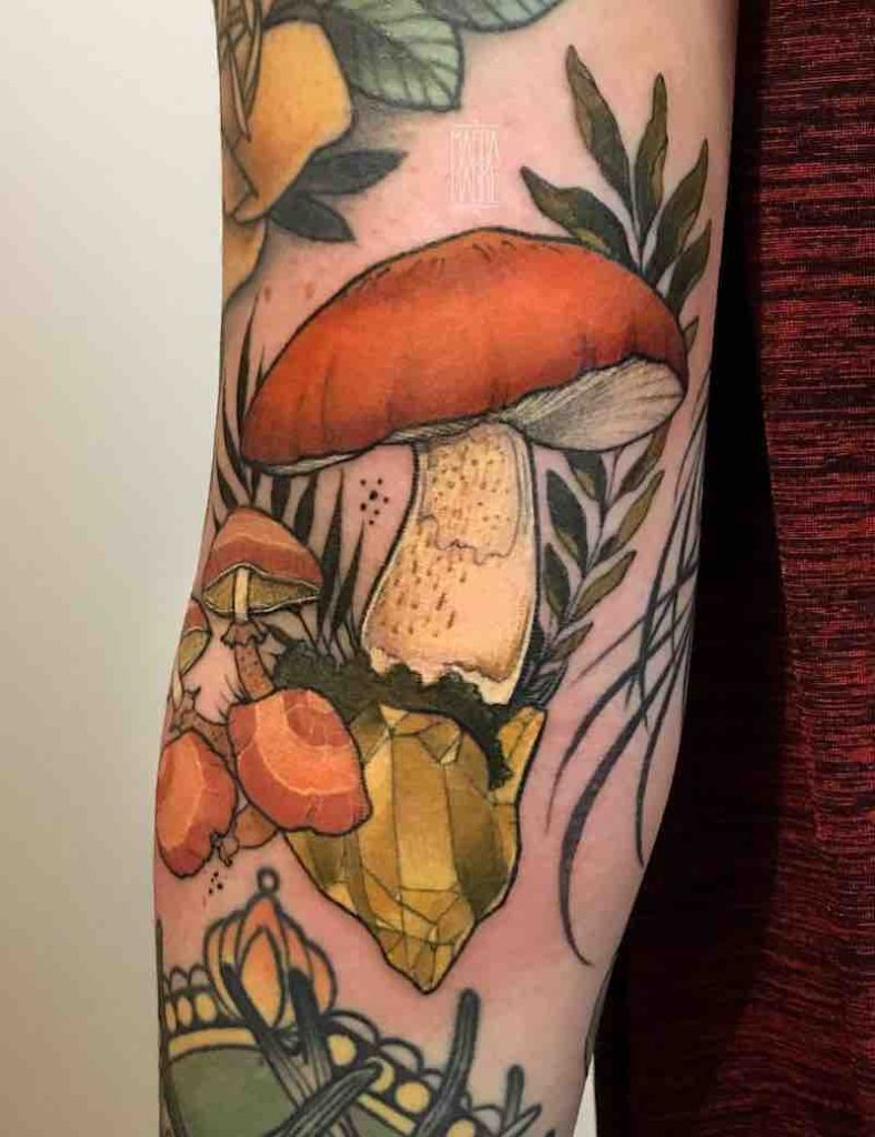 Mushroom Tattoo 3 by Madga Hanke