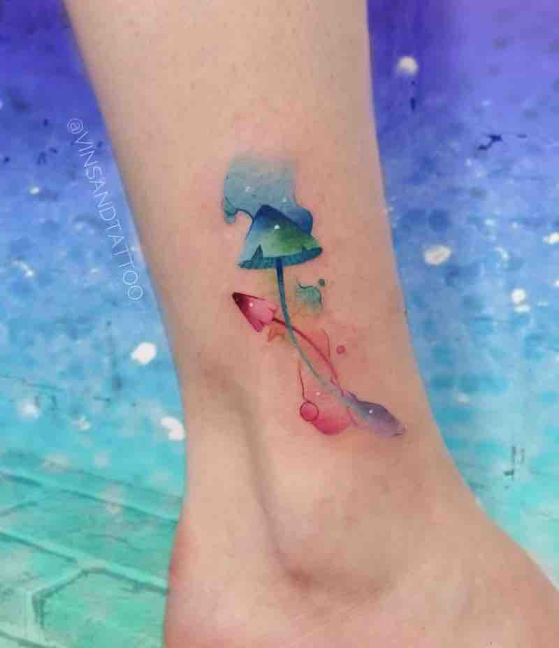 Mushroom Tattoo by Valentina Vinsand