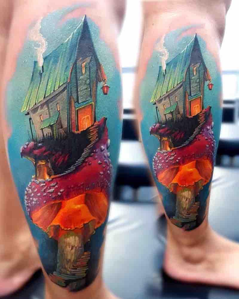 Mushroom Tattoo by Vasilii Suvorov