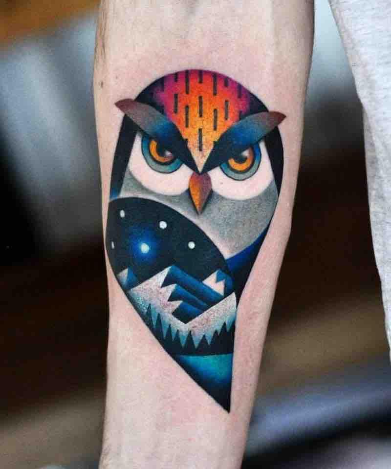 Owl Tattoo 2 by David Peyote