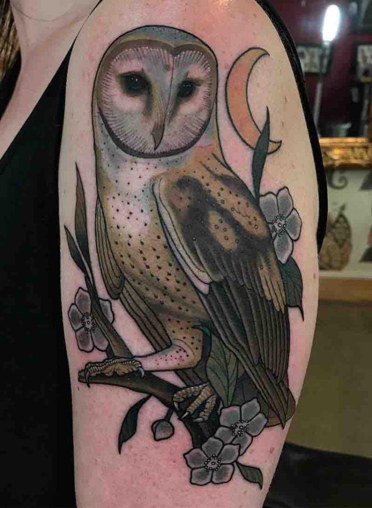 Owl Tattoo 2 by Drew Shallis