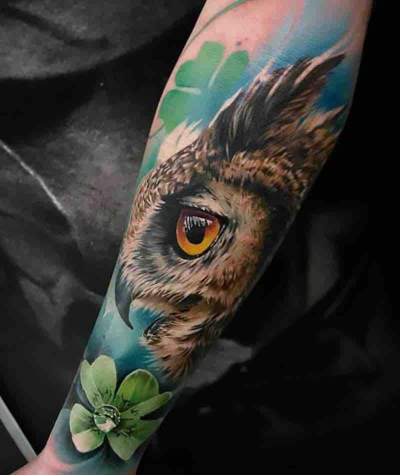 Owl Tattoo 2 by Sandra Daukshta