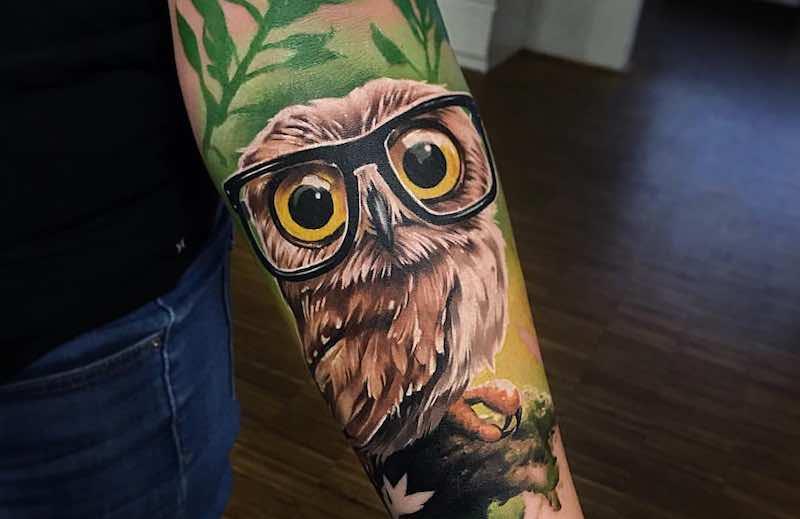 Owl Tattoo Sandra Daukshta