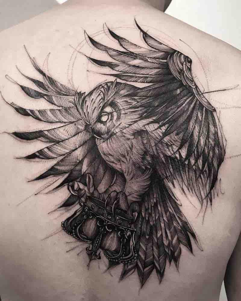 Owl Tattoo by Bk Tattooer