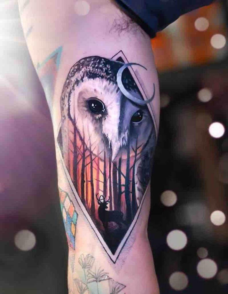 Owl Tattoo by Chris Rigoni