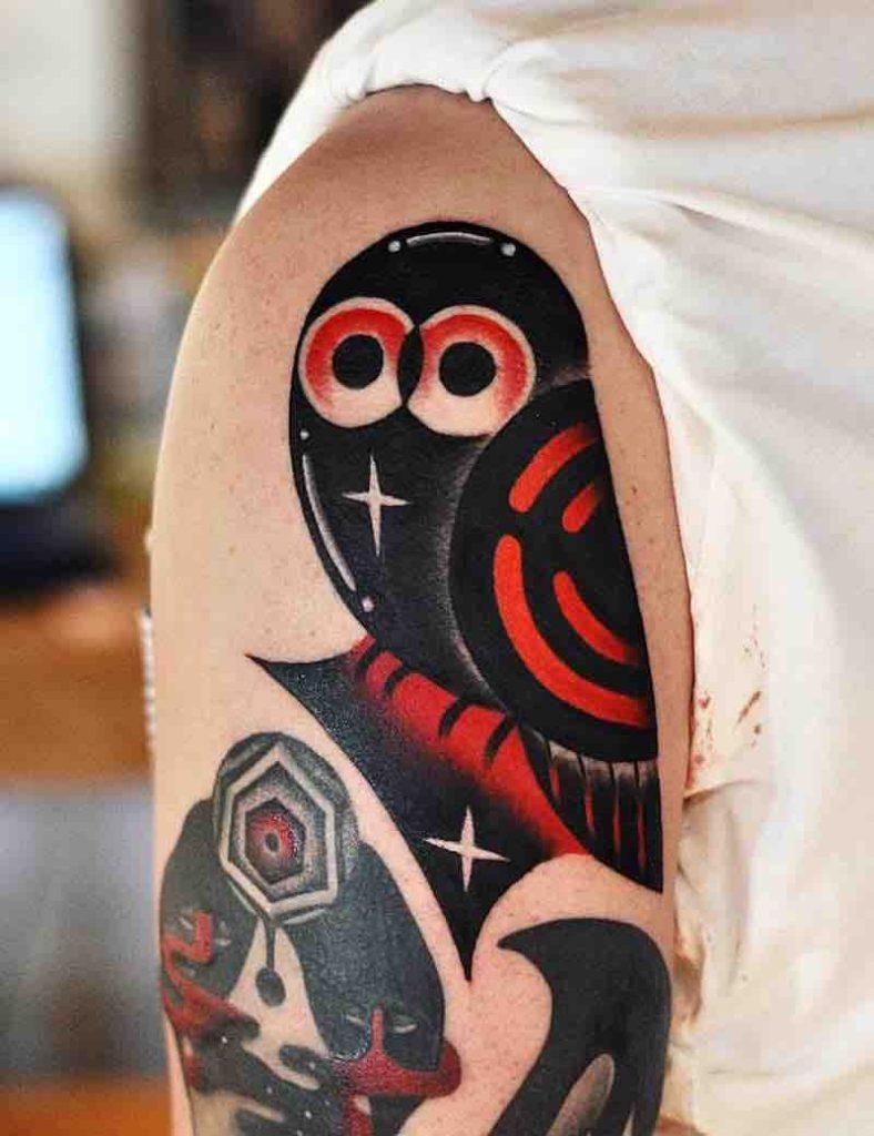 Owl Tattoo by David Peyote