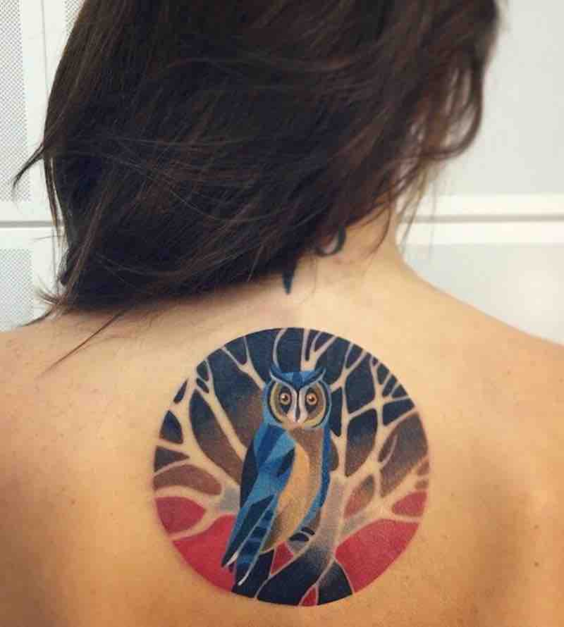 Owl Tattoo by Sasha Unisex