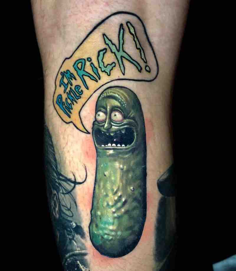 Pickle Rick - Rick and Morty Tattoo by Ben Kaye