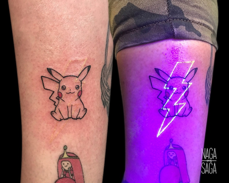 Pikachu UV Tattoo by Nαgα Sαgα