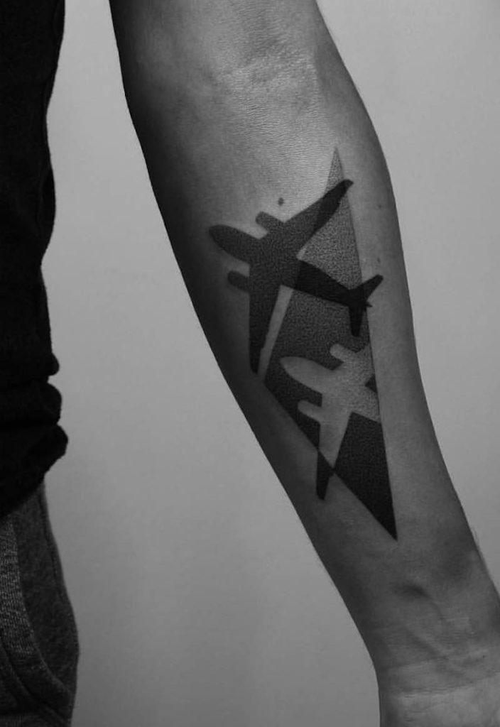 Plane Tattoo by Paweł Indulski