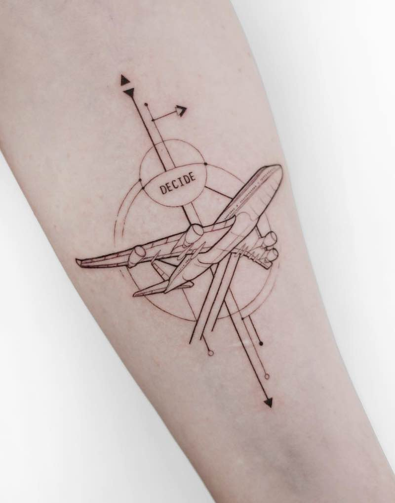 Plane Tattoo by mrtnv