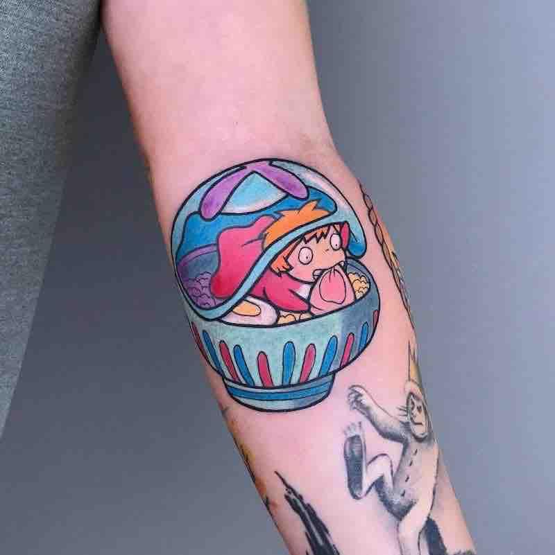 Ponyo Tattoo by Irene Samsa