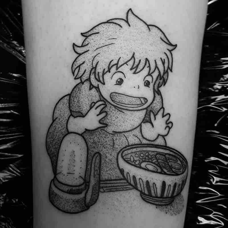 Ponyo Tattoo by Jess Oxley