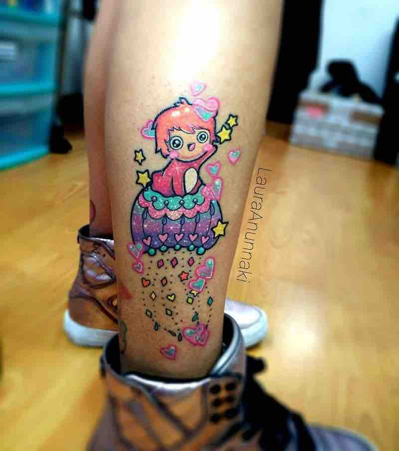 Ponyo Tattoo by Laura Anunnaki